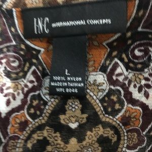 INC International Concepts Tops - 3/4 sleeve patterned shirt